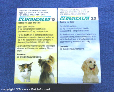 Clomipramine or Clomicalm is a drug commonly used to calm stressed and anxious pets. It can be used to calm an animal that is distressed by the death or euthanasia of another pet.