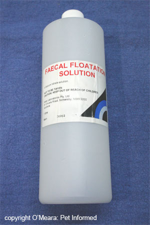 Sodium nitrate is a solution commonly used in fecal flotation.