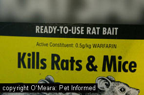 Warfarin is a commonly-used first generation anti-coagulant rodenticide ingredient.